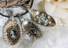 Shabby Chic Inspired altered spoons