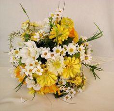 Wedding Bouquet Yellow Wildflowers Silk by BudgetWeddingBouquet, $85.00