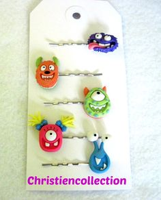 Monster Hair Pin Bobby Pin Toddler Hair by christiencollection