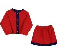 Hartstrings Quilted Cardigan and Skirt Set Size 4T