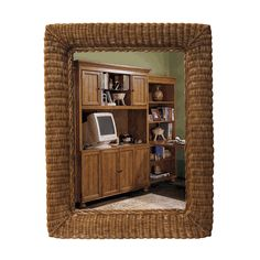 Visually expand any room of your home with this large oblong wall mirror!