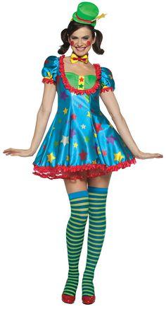 Disfraz payaso para mujer. Disponible en www.vegaoo.es
