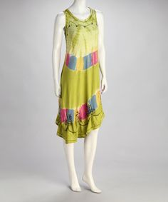 Take a look at this Green Tie-Dye Shift Dress by Style Your Way: Womens Apparel on @zulily today!