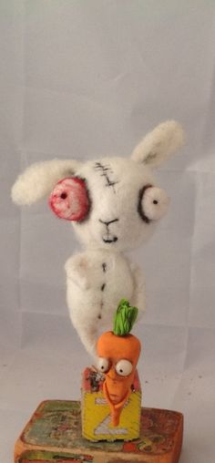 Zombie bunny  by papermoongallery on Etsy, $59.00