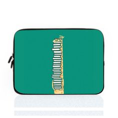 Giraffe Laptop Sleeve Teal Laptop Sleeve 15 MacBook by EnyeDJ