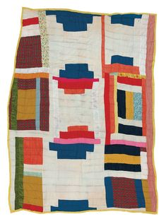 "Deborah Pettway Young - [1] Nine-block ""Log Cabin"" variation - Master Image image 1"