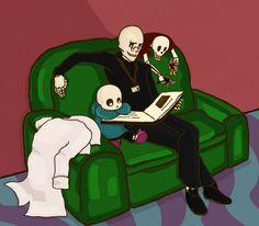 Undertale - Bedtime Stories ||| Papyrus, Gaster, and Sans ||| Undertale Fan Art by octone-berri on DeviantArt