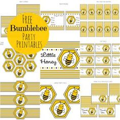 Free Bumble Bee Party Printables