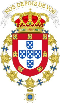 Coat of Arms of Manuel II of Portugal (Seraphin Order). Asian History, British History, Historical Women, Historical Photos, History Of Portugal, Egypt Tattoo, Seraphin, Strange History, History Facts