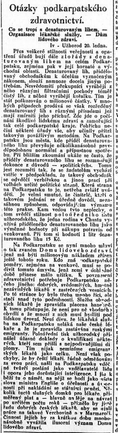 Lidové noviny, 22.1.1930 Hospitals, Word Search, Words, Historia, Horse