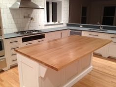 Superior Solid Maple Butcher Block Island Top   Kitchen Islands And Kitchen Carts    Other Metro