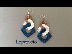 How to make Crochet Earrings - Emma Tutorial #CrochetGeek - YouTube
