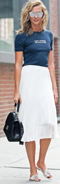 Sunglasses – Karen Walker Shirt – Vanessa Seward Skirt – Babaton For Aritzia Shoes – Dolce & Gabbana
