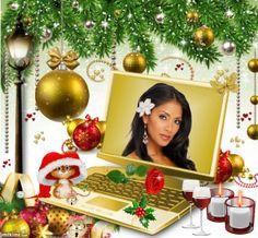 Christmas Gold Computer