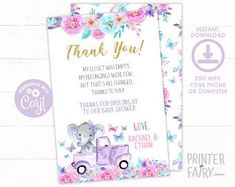 Party Boutique The Cutest Party Printables by PrinterFairy Diaper Raffle, Elephant Baby, Party Printables, Etsy Seller, Baby Shower, Boutique, Unique Jewelry, Handmade Gifts, Cute