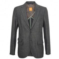 HUGO BOSS Orange Benne Blazer Jacket In Charcoal 50249132 - Excel Clothing