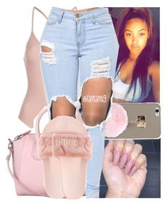 """"""";made a n*gga sing a whole song about ya"""" by lamamig ❤ liked on Polyvore featuring Topshop, Givenchy and Puma"""