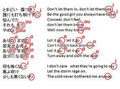 アナと雪の女王の歌は英語の歌詞と日本語の歌詞が韻を踏むように作られている