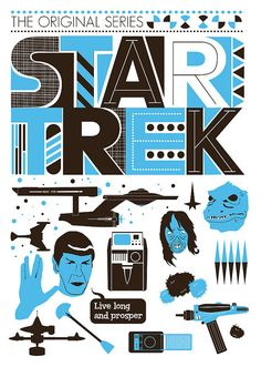 $19.00 USD. Star Trek Poster Movie poster Retro Scandinavian style - The Original Series A3