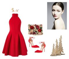 """Reddd"" by sedefolga on Polyvore featuring moda, Miss Selfridge, Dolce&Gabbana, Manolo Blahnik, women's clothing, women's fashion, women, female, woman ve misses"