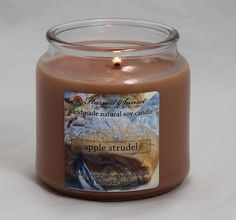 A blend of apples, cinnamon, and wonderful spices = the perfect Apple Strudel candle.