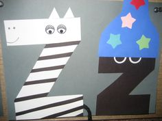 """Zz"" Letter of the week art project: zebra & zzzzzz"