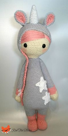 Unicorn Doll unicorn plush unicorn toy stuffed by RedFoxStitches