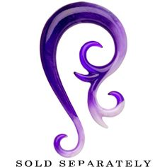 00 Gauge Purple White Paradox Acrylic Swirl Taper #bodycandy  $3.99 these are so pretty but my ears will never be that size