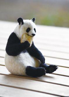 YOSHiNOBU パンダ 羊毛フェルト