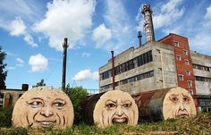 old buildings, new art