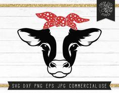 Cow Tattoo, Cow Photos, Cow Face, Cow Head, Cute Cows, Svg Cuts, Farm Animals, Printable Art, Printables