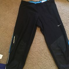 Nike cropped pants Worn maybe a handful of times. Great condition. I love them, but my athletic collection has grown so much so it's time to move on! Nike Pants