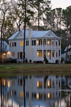 Handsome home with reflecting pond