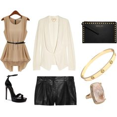 nude and leather by hooamanda on Polyvore