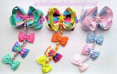 Hair Ribbons, Diy Hair Bows, Diy Bow, Ribbon Hair, Diy Beaded Bracelets, Crafts For Kids, Arts And Crafts, Bow Shop, Little Bow