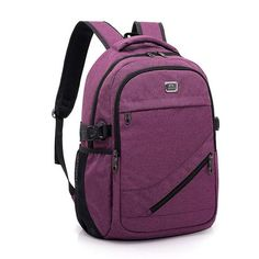 anti theft backpack men laptop inch USB charging back pack women outdoor Casual large capacity High school student back bag From Touchy Style Outfit Accessories Cool Backpacks For Girls, Big Backpacks For School, Trendy Backpacks, Boys Backpacks, Backpack For Teens, Backpack Bags, Rottweiler, Under Armour, Anti Theft Backpack