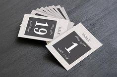 Modern Elegant Wedding & Event Table Numbers Printable Table