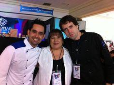 Con Elsa Olivares y Juan Angel  youtube/chefmanuelsalcido