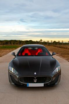 Maserati GranTurismo Sport. Love the colour of the front seat, but the rear seats would be black (leather, of course).