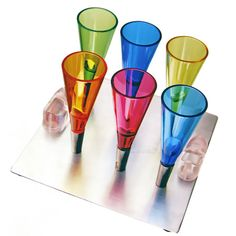 #Magnetic #Shot #Glasses w/ Tray