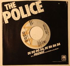 """7 single, The Police, ""Do Do Do Do De Da Da Da"" (1980) - US cover. This was their first US-hitsingle after the release of ""Roxanne"". Although both, the Regatta-tour and -album succeeded, the singles ""Message In A Bottle"" and ""Walking On The Moon"" couldn't repeat the success of ""Roxanne"" in North America. BTW. in those days some single covers didn't have a unique picture. So, this one is no special artwork! ;-)"