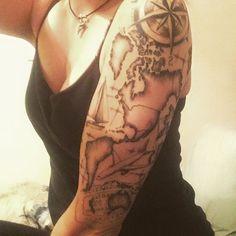 travel sleeve tattoo - Google Search