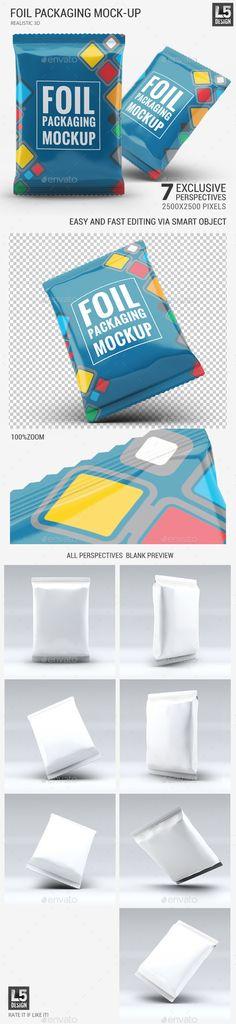 Foil Packaging Mock-Up #design Download…