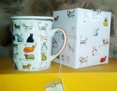 "Tassa ""Cats"": Tassa porcellana amb tapa i infusor metàl.lic. Marca : ""Cha Cult"" 8,95 €"