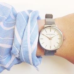 Stripes and silver = the perfect combo <3 #oliviaburton