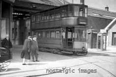 PHOTO TAKEN FROM A 1950's IMAGE OF THE MARYHILL TRAM DEPOT GLASGOW • £2.95