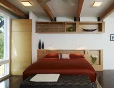 Design Tip – Hide An Air Conditioning Unit With Custom Shelving - http://www.interiordesign2014.com/architecture/design-tip-hide-an-air-conditioning-unit-with-custom-shelving/: