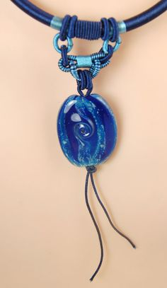 Lampwork and Chinese Knotted & Braided Silk Cord Necklace by celestialbeads, $35.00.