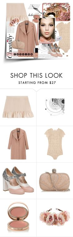 """""""Nude"""" by pippi-loves-music ❤ liked on Polyvore featuring Vanessa Bruno Athé, Rochas, I.D. SARRIERI, Miu Miu, Alexander McQueen, Charlotte Tilbury and Rock 'N Rose"""