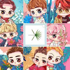 #EXO #THEWAR #KOKOBOP ♡ Kpop Exo, Exo Kokobop, Exo Cartoon, Chibi, Exo Anime, Chanyeol Baekhyun, Park Chanyeol, Exo Couple, Ko Ko Bop